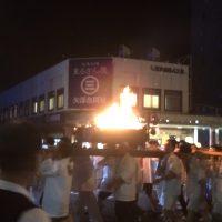 白銀神社の火祭りがおこなわれました。