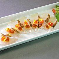 敦賀真鯛燻製カルパッチョ